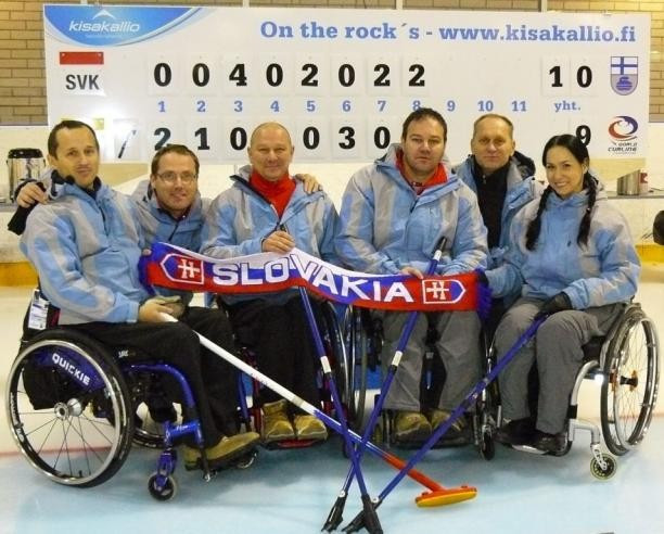 Slovakia will compete in Group A of next month's World Wheelchair-B Curling Championships ©WCF