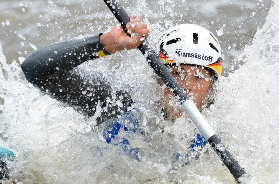 Jasmin Schornberg of Germany, pictured in 2013, enjoyed a welcome return to form in the K1 event ©AFP/Getty Images