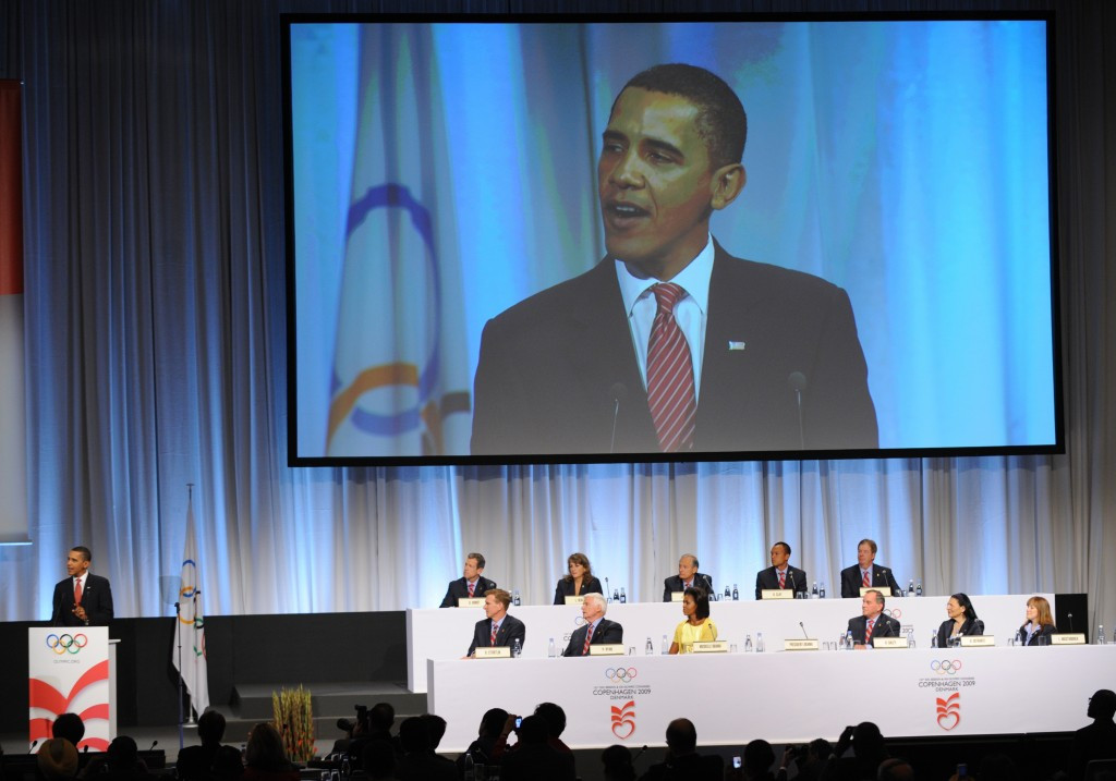 Barack Obama attended the IOC Session at which Chicago failed to land the 2016 Olympics and Paralympics ©Getty Images