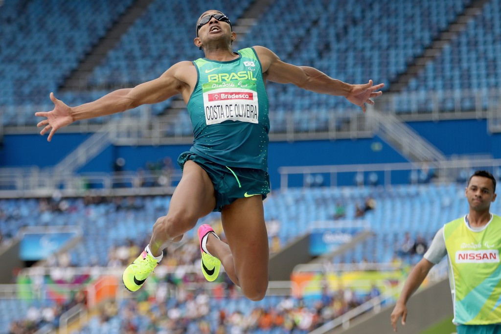 Ricardo Costa Oliveira won the men's long jump T11 final and has had a school in the Guaratiba area, in the west of Rio, named after him ©Getty Images