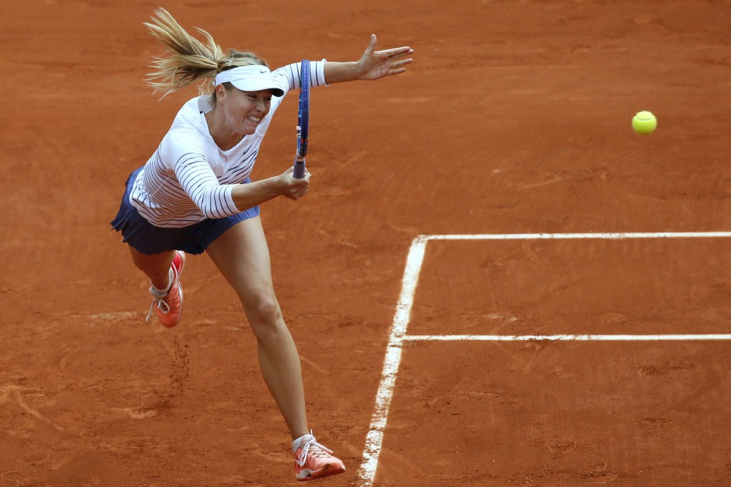 Maria Sharapova will be able to compete at the 2017 French Open, a tournament she won in 2012 and 2014 ©Getty Images
