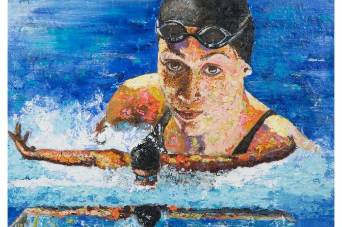 "Portraits painted of Paralympians from New Zealand as part of the country's ""Spirit of Gold"" initiative have been made available for sale ©PNZ"