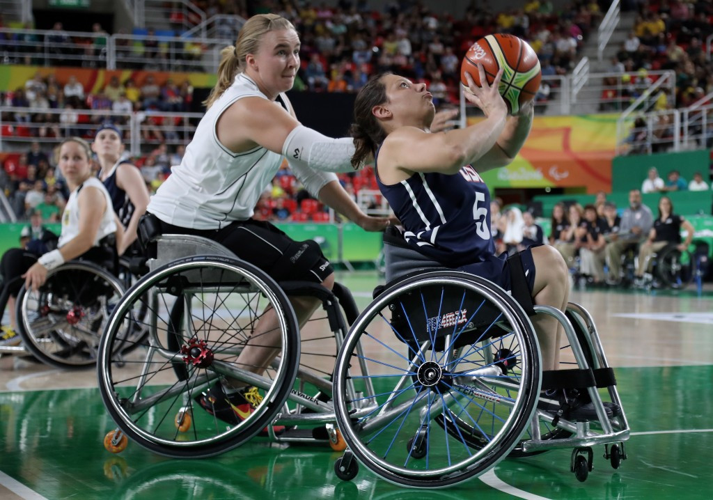 America beat Germany in the final of women's wheelchair basketball competition at Rio 2016 ©Getty Images