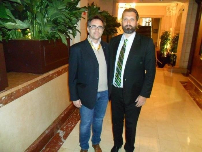 It has been affirmed that Tommy Wiking, right, did resign as the President of the IFAF in February 2015 ©Facebook
