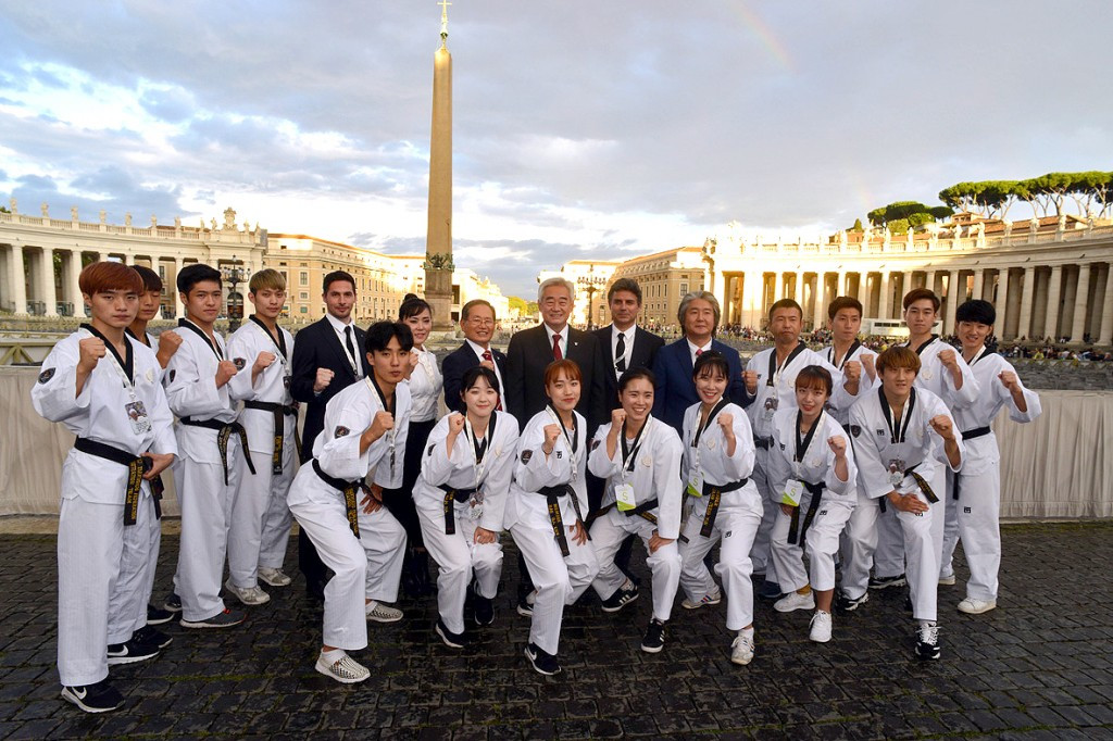 WTF taekwondo demonstration team performs at opening of global conference on Faith and Sport