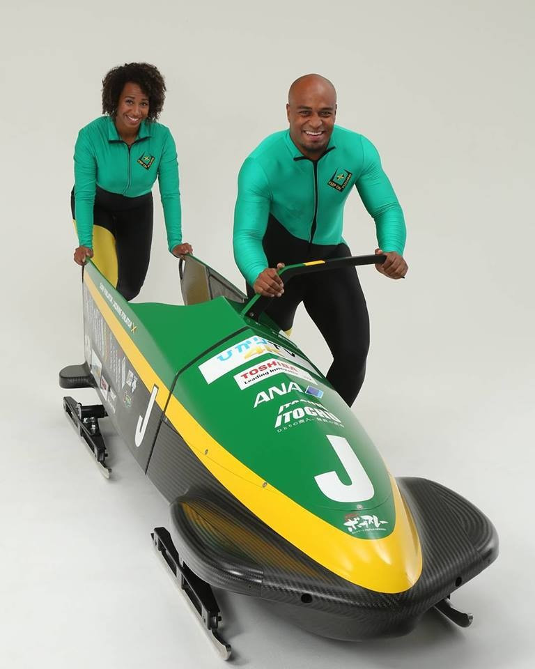 The sled Jamaica will use to qualify for Pyeongchang 2018 has been unveiled ©Facebook/Shitamachi Bobsleigh project
