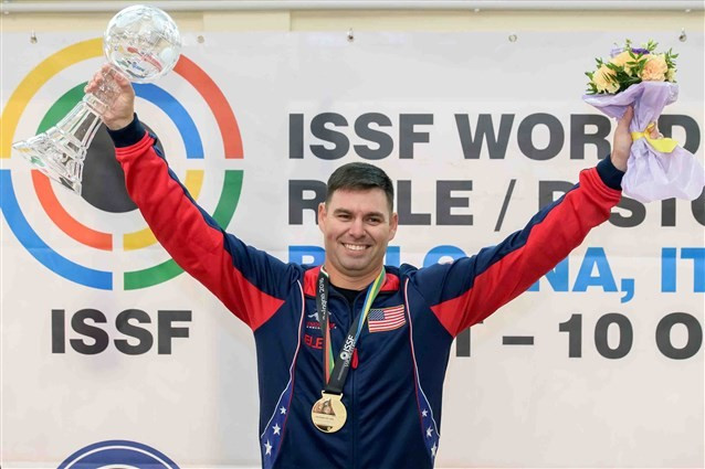 McPhail wins second consecutive ISSF World Cup final title in Bologna