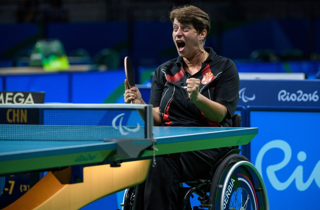 San-Ei produced the tables for the Rio 2016 Paralympic Games ©Getty Images