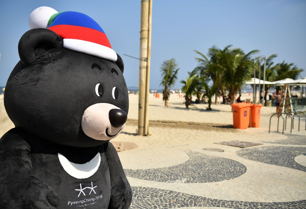 Pyeongchang 2018 have vowed to step-up the number of promotional events, like the one seen at Rio 2016 ©Getty Images