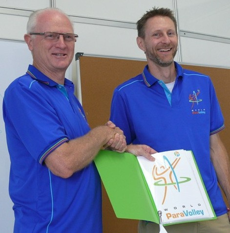 Phil Allen (right) has been reappointed on a four-year contract ©World ParaVolley