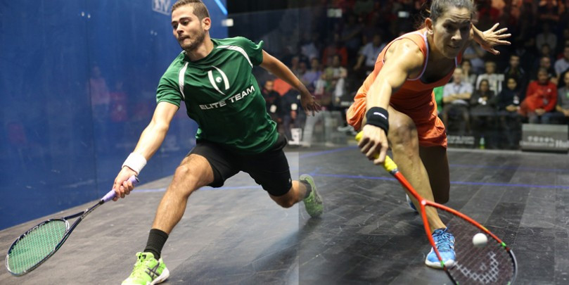 Egypt's Karim Abdel Gawad and New Zealander Joelle King have been named the PSA players of the month for September after a series of fine results ©PSA