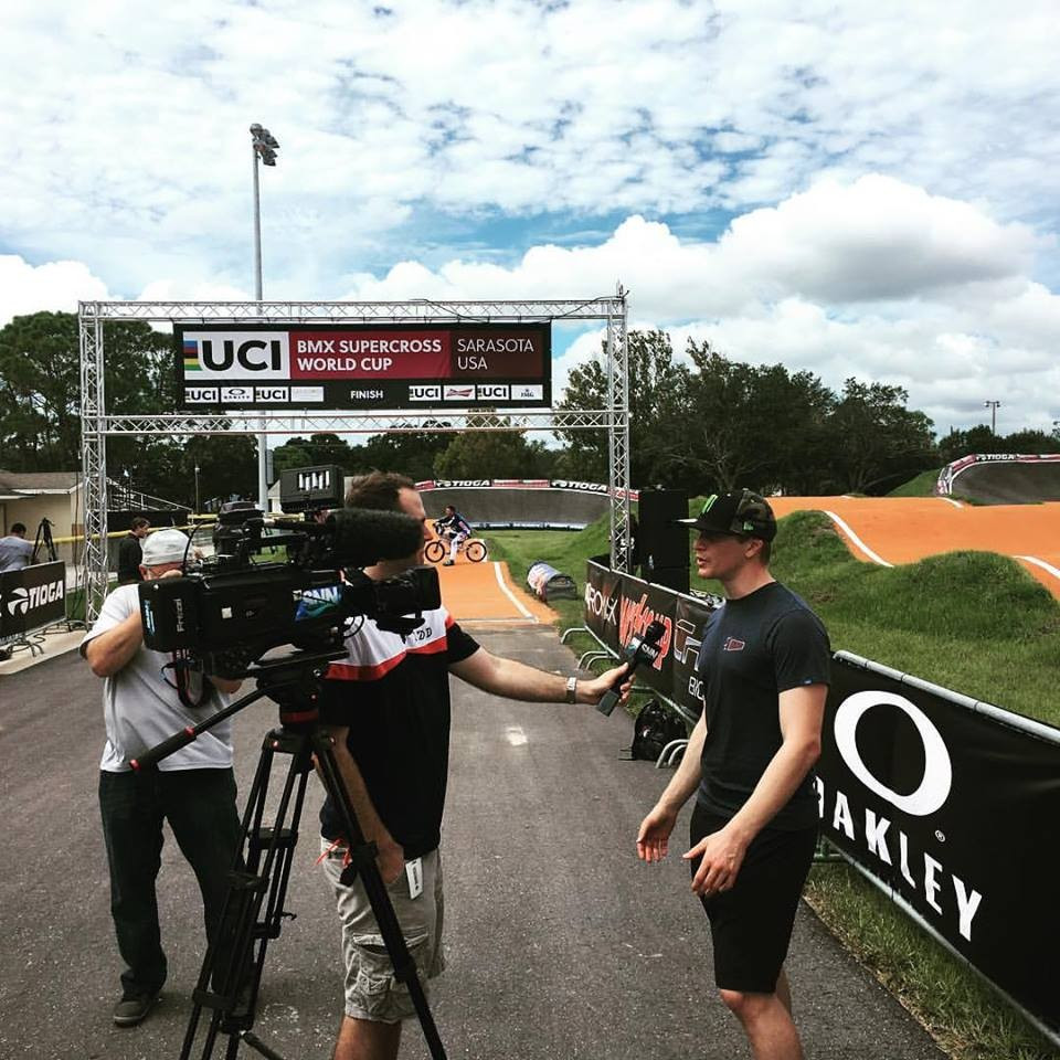 Sharrah seeks to maintain overall lead at final event of BMX Supercross World Cup
