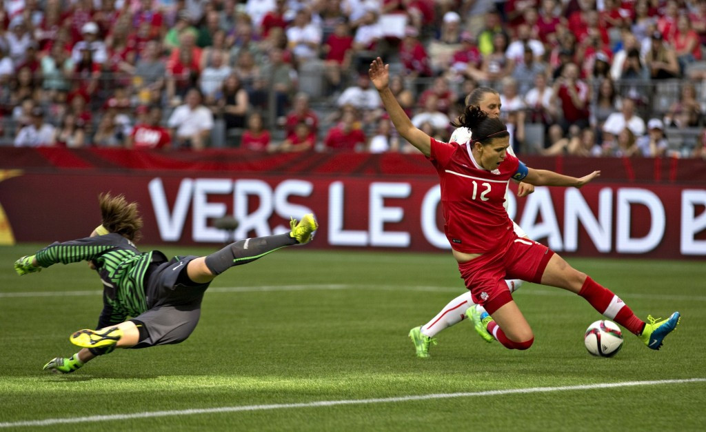 Hosts Canada are also through to the next round after they beat Switzerland 1-0