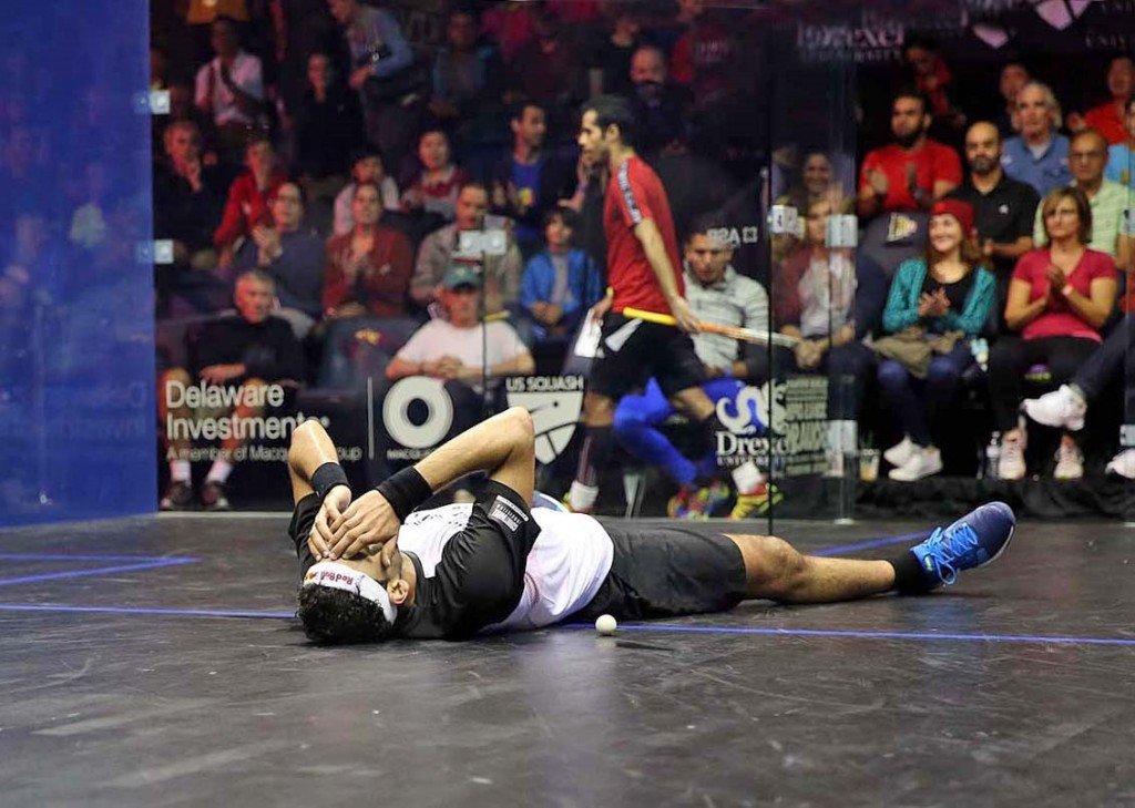 World number one Elshorbagy survives first-round scare at PSA US Open
