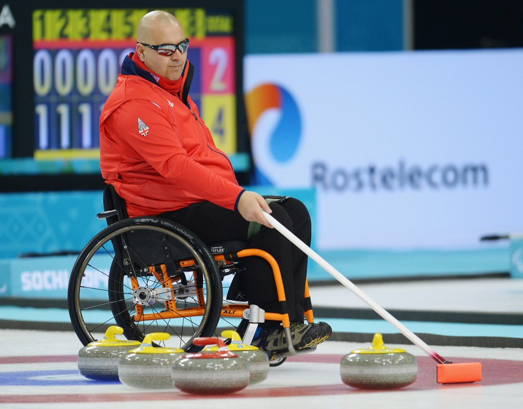 The team of five includes Aileen Neilson's fellow 2014 Paralympic bronze medallists Angie Malone, Gregor Ewan (pictured) and Robert McPherson as well as Hugh Nibloe ©Getty Images