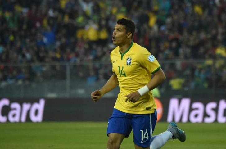 Thiago Silva scored Brazil's opening goal