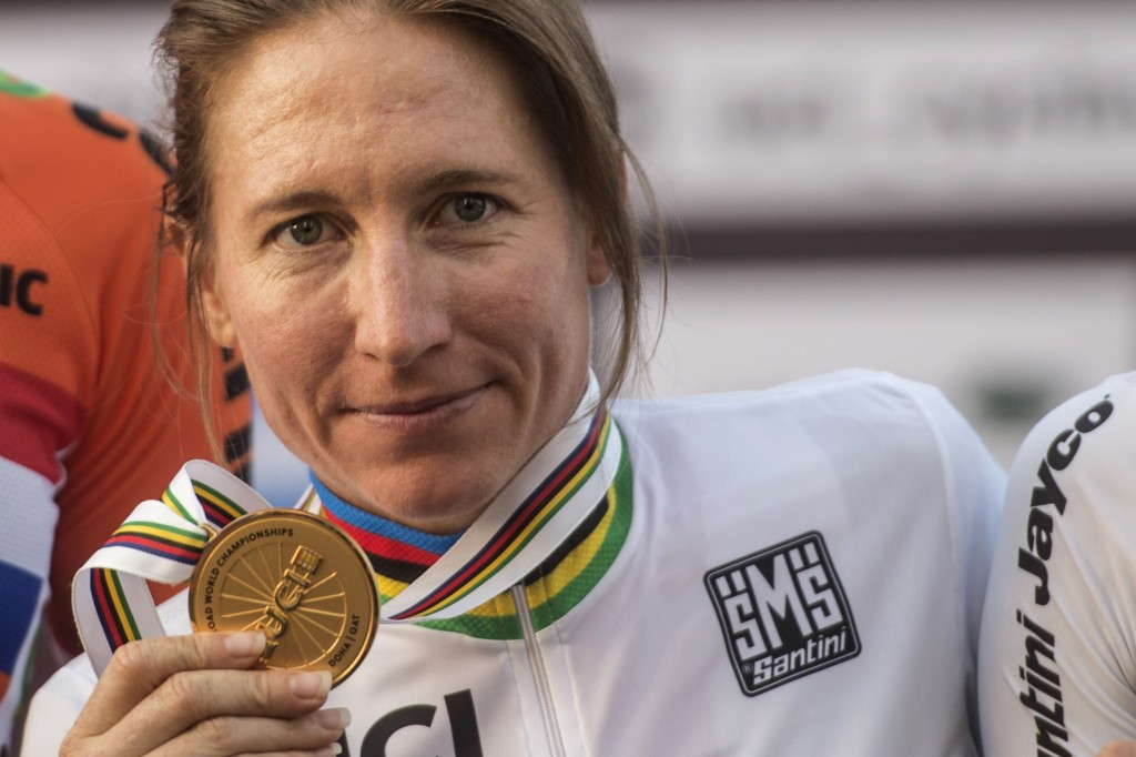 Amber Neben became the second oldest woman to win the individual time trial world title ©Getty Images
