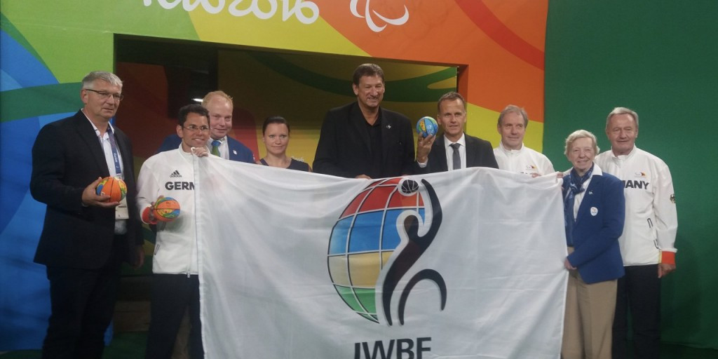 Hamburg received the IWBF flag in Rio as a token of agreement ©IWBF