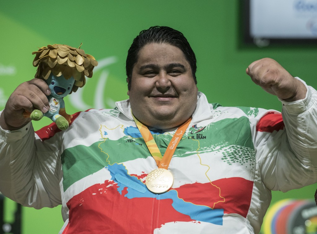 Visitors could test themselves against Siamand Rahman, the world's strongest Paralympian ©Getty Images