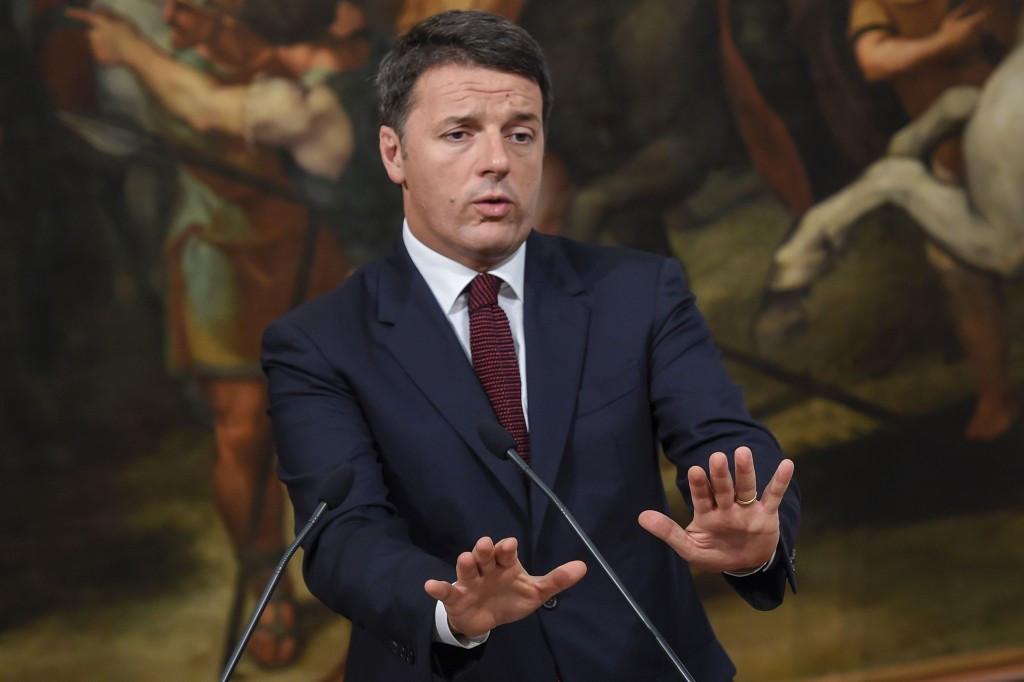 Italian Prime Minister Matteo Renzi has dismissed Virginia Raggi's funding suggestion ©Getty Images