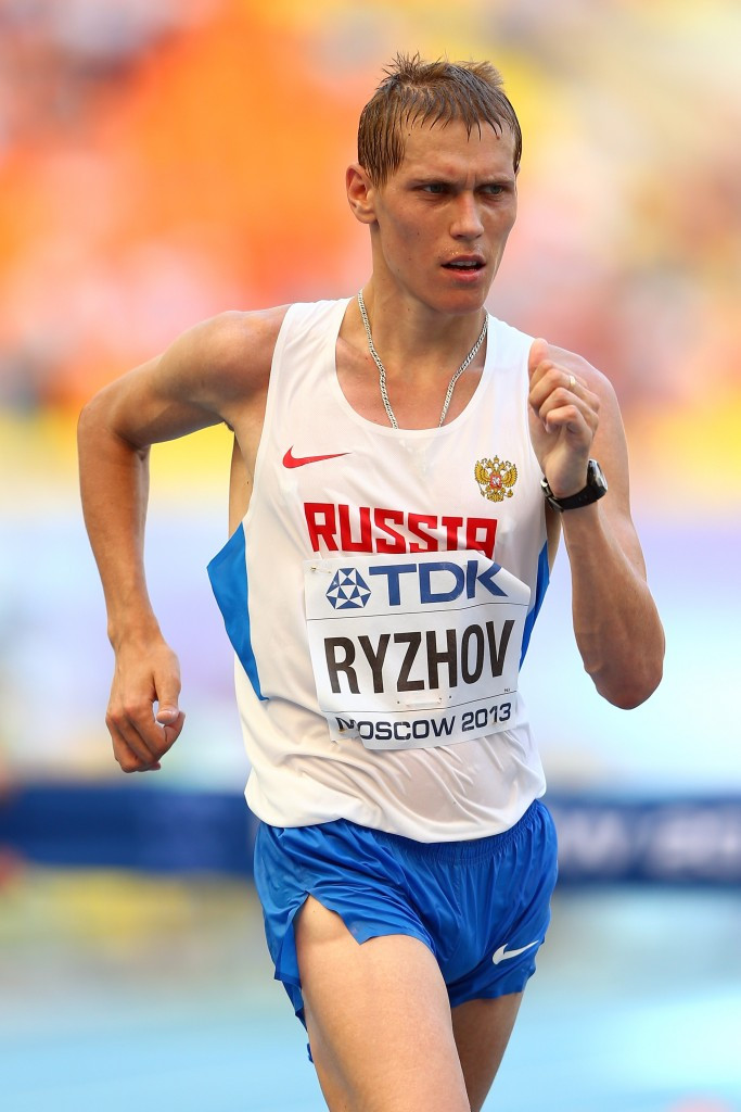 World Championship silver medallist Mikhai Rhyzhov is among five Russian race walkers to have been banned by CAS after testing positive for erythropoietin ©Getty Images