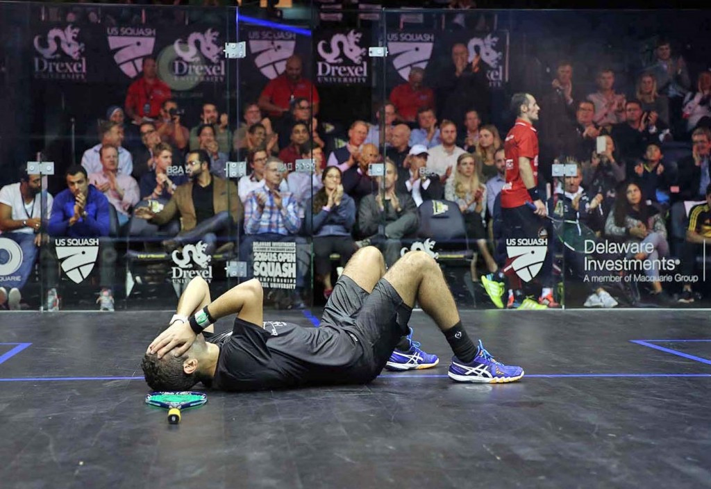 Karim Abdel Gawad (pictured) beat defending champion Gregory Gaultier of France ©PSA