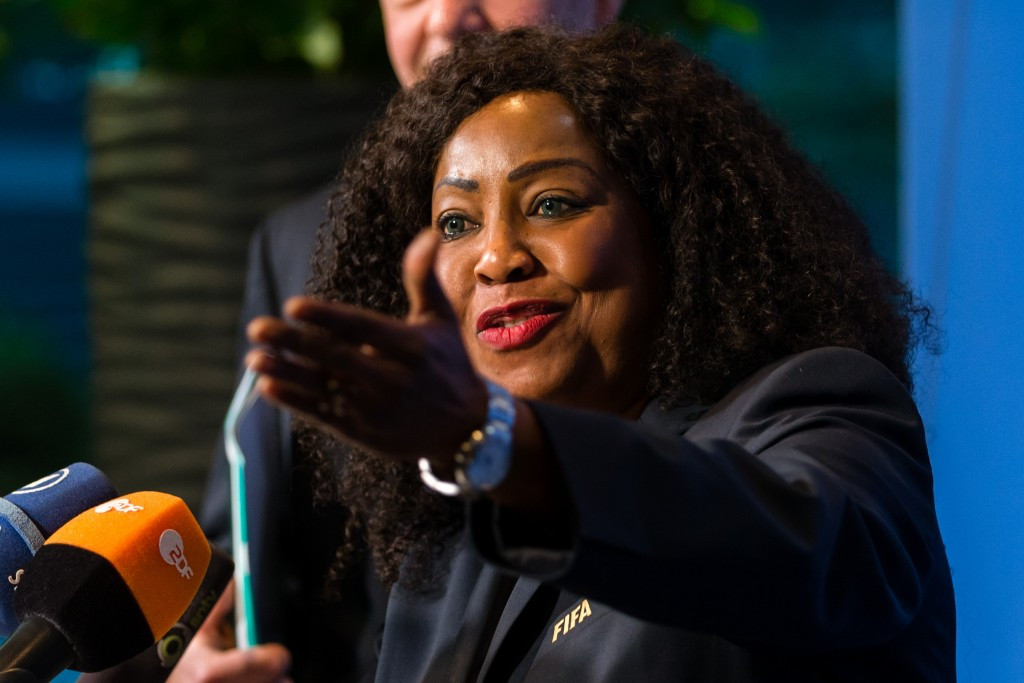 FIFA secretary general Fatma Samoura was taking part in her first Council meeting ©Getty Images