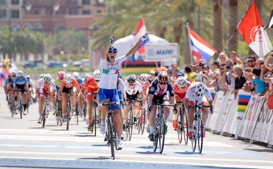 Denmark's Egholm and Italian Balsamo win junior road races at UCI Road World Championships in Doha
