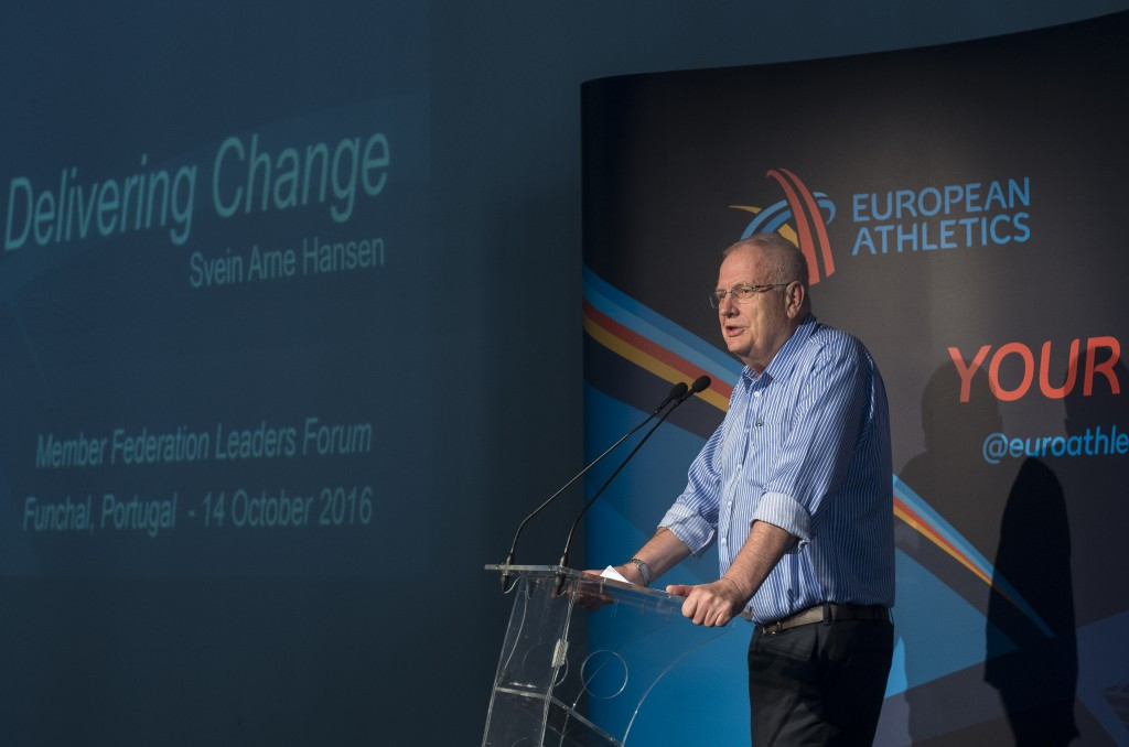 European Athletics President Svein Arne Hansen opened the Member Federations Leaders Forum, which forms part of the governing body's annual Convention ©Getty Images