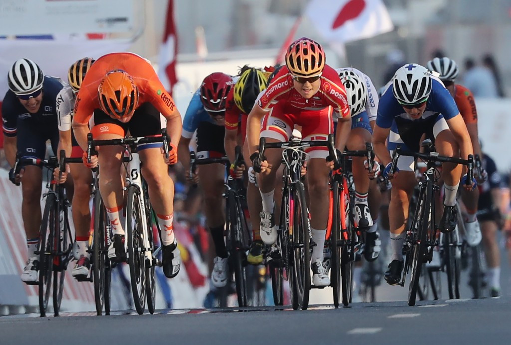 Dideriksen rises to top of senior women's road race podium in Doha