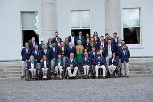 Members of the Irish team at the Paralympic Games in Rio de Janeiro have attended a reception hosted by President Michael Higgins ©Paralympics Ireland