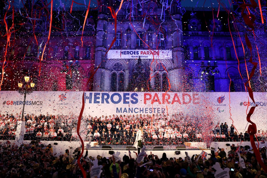 Manchester hosts celebration event for British stars of Rio 2016 Olympic and Paralympic Games