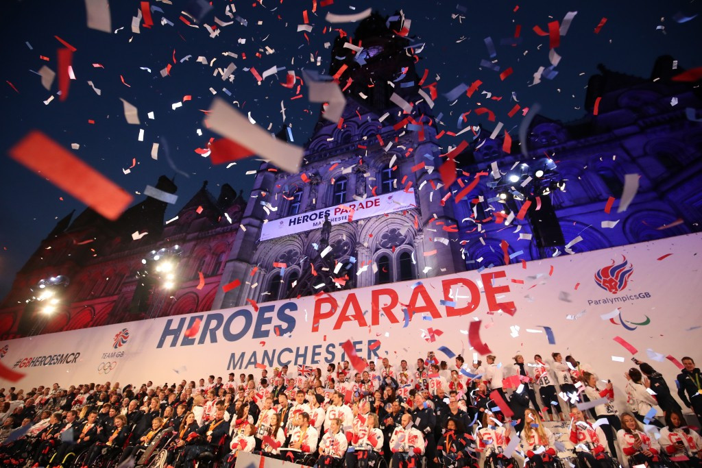 Two men were able to gatecrash the British Olympic and Paralympic celebration parade in Manchester ©Getty Images