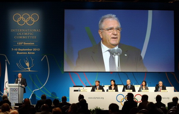 Riccardo Fraccari, pictured addressing the IOC in 2013, described how baseball and softball have reached the first base today ©Getty Images