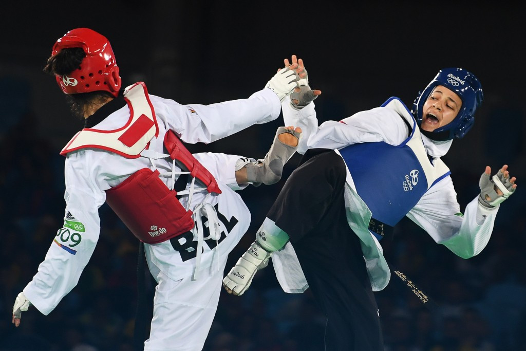 Hedaya Malak beat Raheleh Asemani of Belgium to earn bronze in the women's under 57kg event at Rio 2016 ©Getty Images