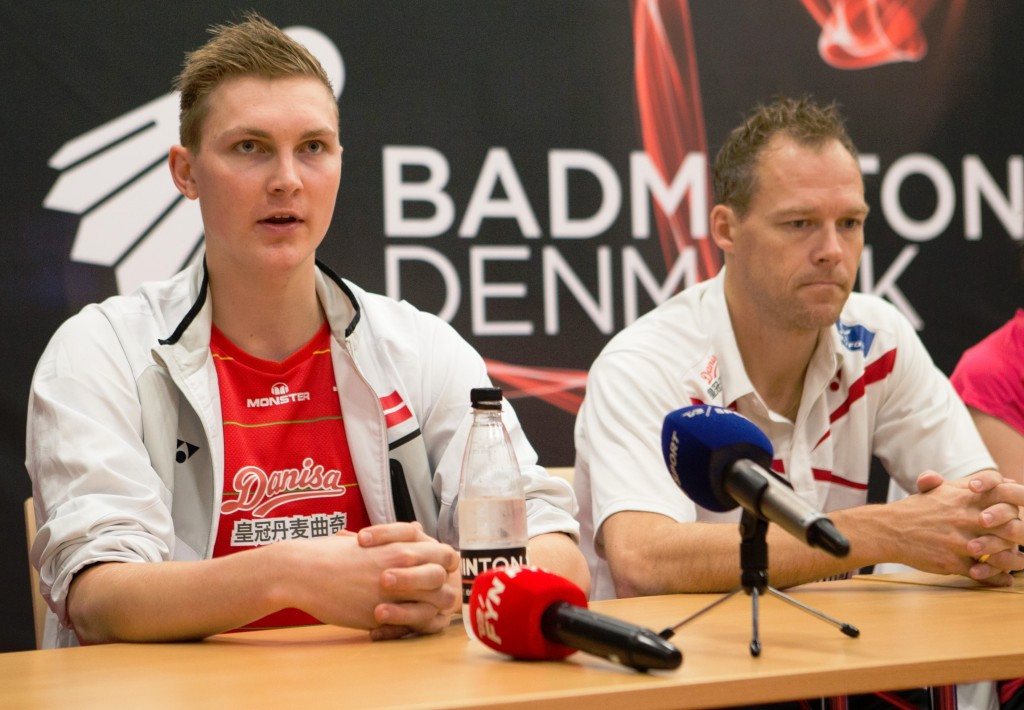 Viktor Axelsen tackled a press conference ahead of the main draw beginning tomorrow ©BWF