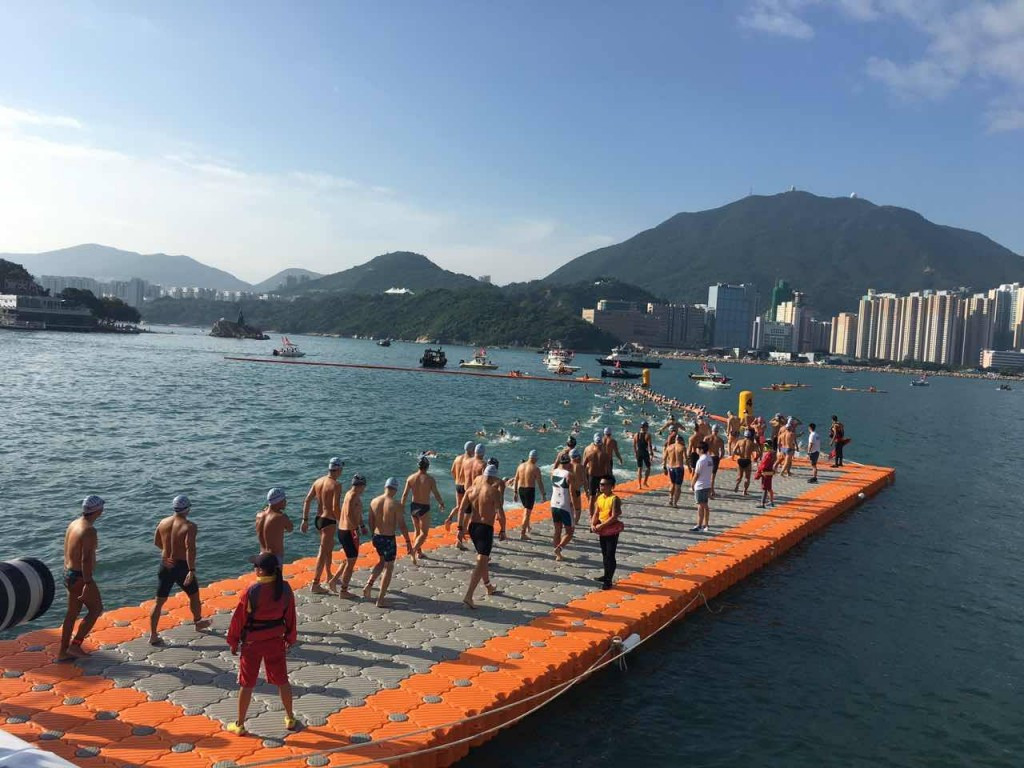 Around 3,000 swimmers took part in the leisure event in Hong Kong ©Facebook
