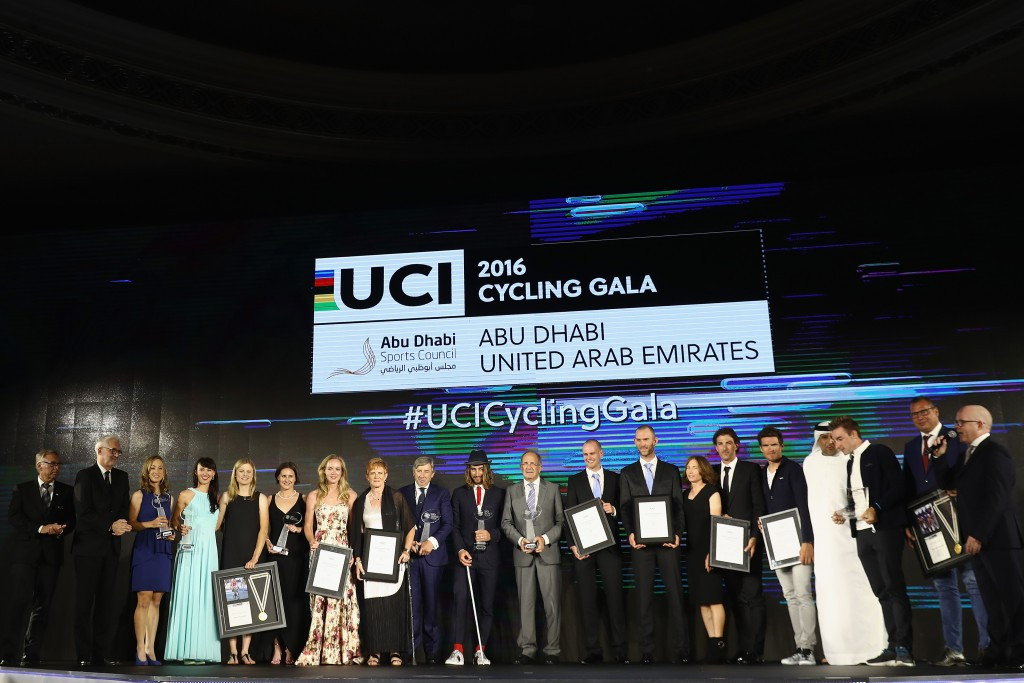 World champions Dideriksen and Sagan honoured at second UCI Cycling Gala