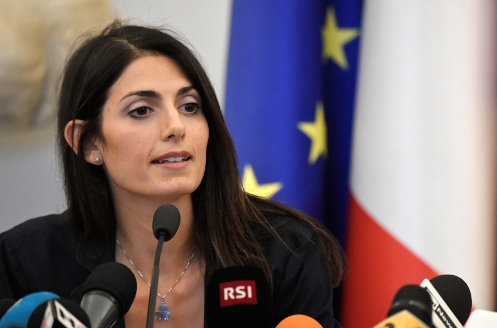Rome Mayor Virginia Raggi withdrew the city's support for the 2024 Olympic and Paralympic Games bid last month ©Getty Images