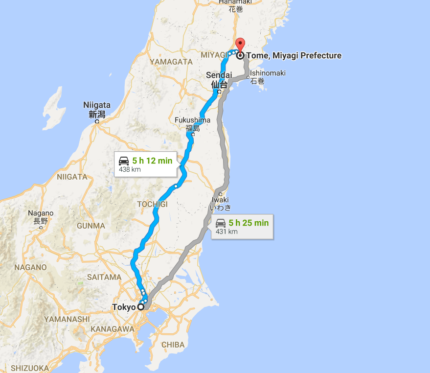 Moving rowing and canoe sprint events more than 400km north to Tome is one option on the table ©Google Maps