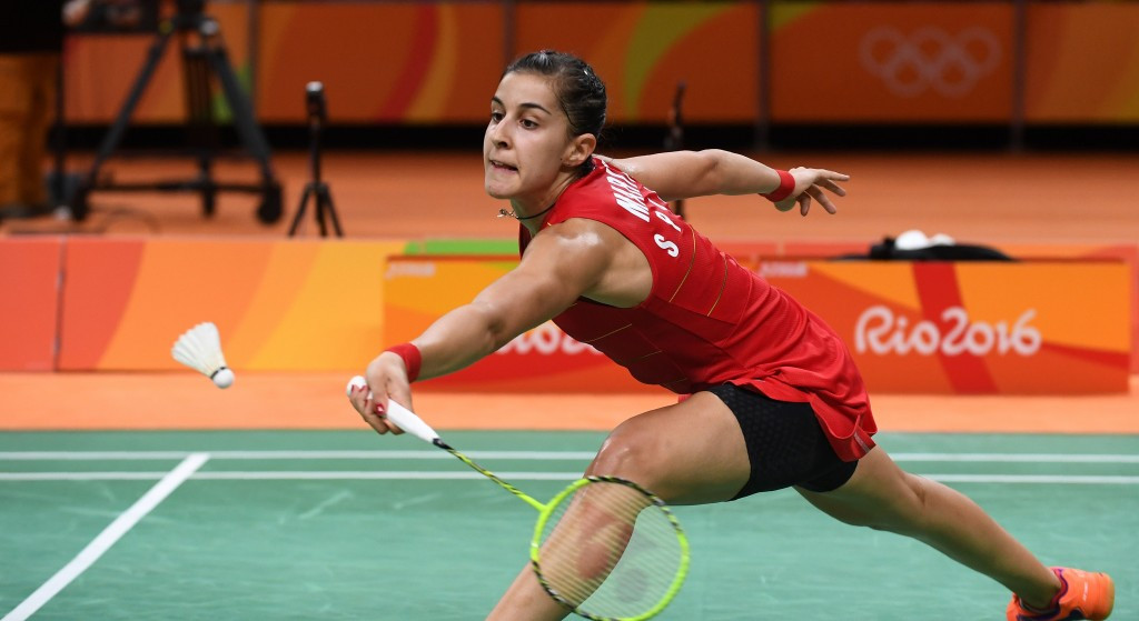 Carolina Marin remains on course for success in the women's singles competition ©Getty Images