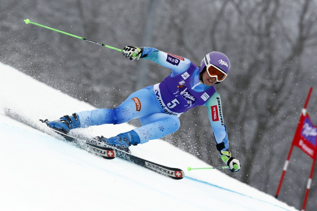 Two years ago at the 2014 Sochi Winter Olympics, Tina Maze claimed two gold medals in the women's downhill and giant slalom events ©Getty Images