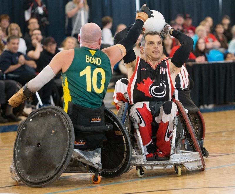 Canadian wheelchair rugby player David Willsie was an inspiration behind the fundraising ©CWSA