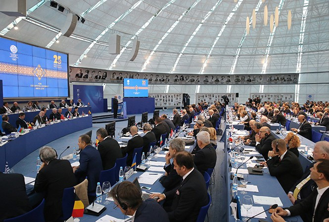 The decision to award Minsk the 2019 European Games was not unanimous at the EOC General Assembly ©President of Belarus