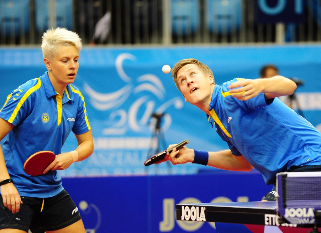 Defending mixed doubles champions beaten at European Table Tennis Championships as husband and wife duo make final