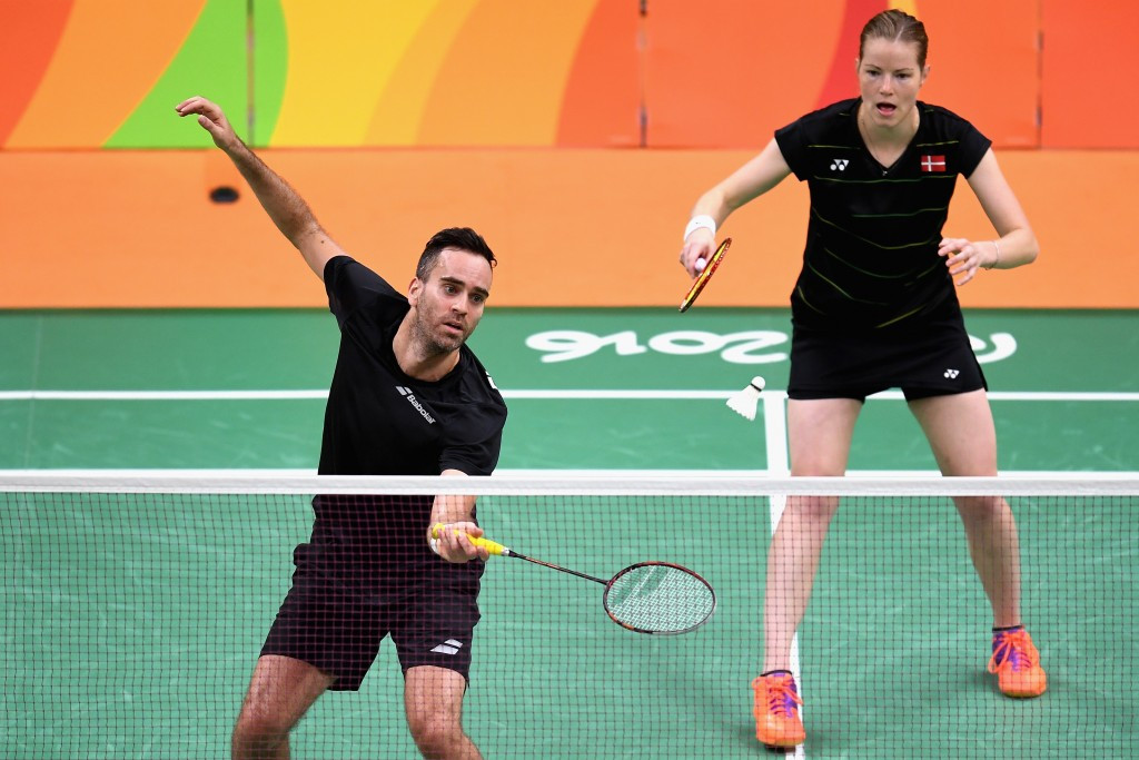 Home favourites Joachim Fischer Nielsen and Christinna Pedersen reached the mixed doubles semi-finals of the Yonex Denmark Open today ©Getty Images