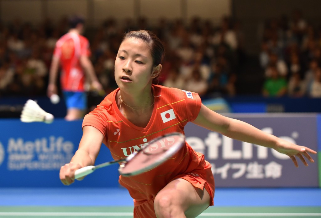 Japan's Nozomi Okuhara crashed out of the women's singles competition ©Getty Images