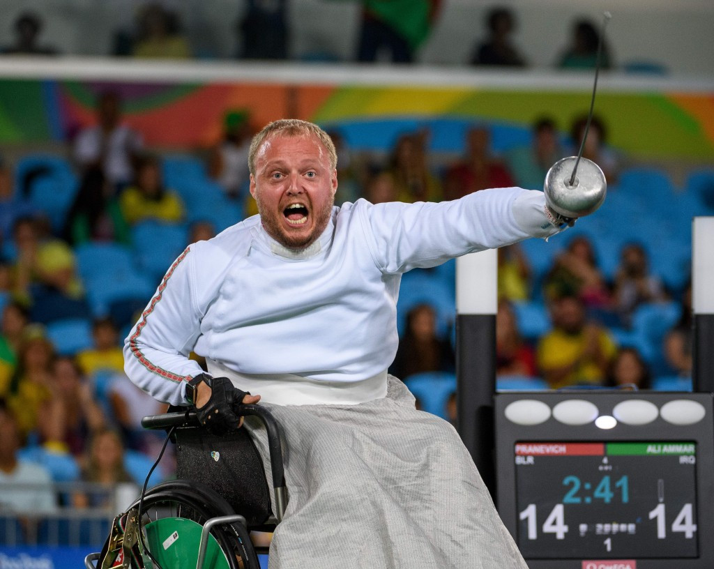 Belarus' Andrei Pranevich was among the wheelchair fencing gold medallists at Rio 2016 ©Getty Images