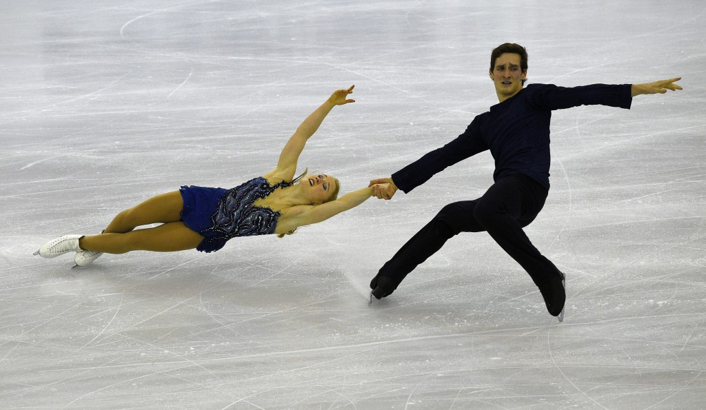 Julianne Seguin and Charlie Bilodeau of Canada secured their maiden International Skating Union Grand Prix of Figure Skating gold medal ©Getty Images