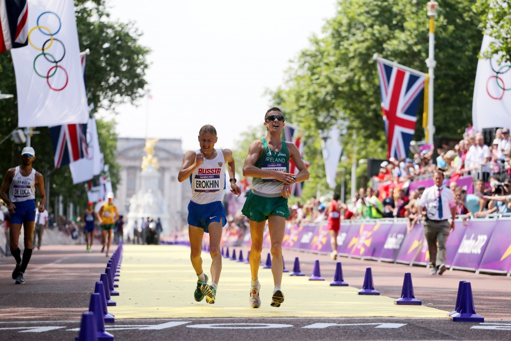 Rob Heffernan will belatedly receive a bronze medal from the London 2012 Games ©Getty Images
